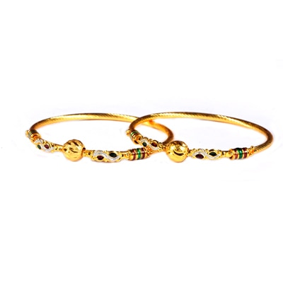 Luxor Golden Bangles Set Of 2