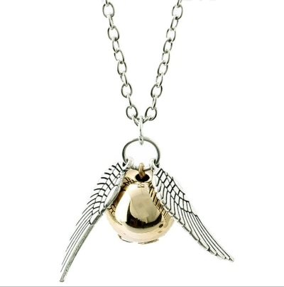 Mahi Harry Potter Snitch Silver Golden Unisex Metal Pendant PS1101583R