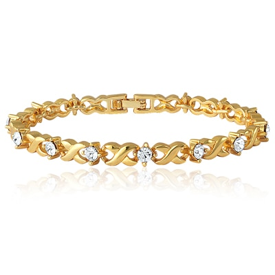 Mahi Silver Brass Bracelet For Women Br1100126G