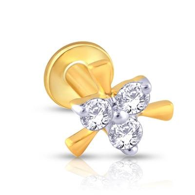 Malabar Gold & Diamonds  Mine Diamond Nosepin Np51029 Nose Pins