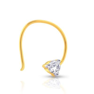 Malabar Gold & Diamonds  Mine Diamond Nosepin Np51219t Nose Pins
