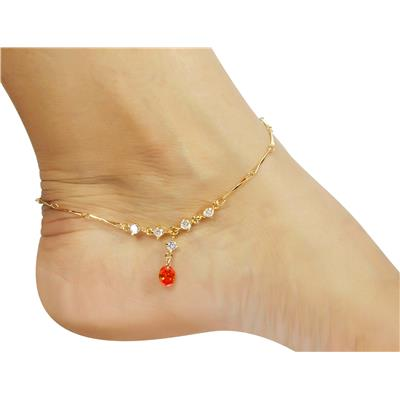 Much More Fashion Orange Anklet