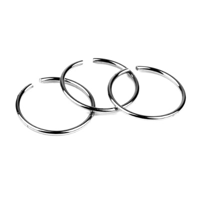 Phenovo Stainless Steel Nose Studs Rings Hoops Body Piercing Jewelry 40pcs Silver