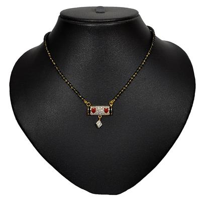 Pourni American Diamond Tanmaniya Mangalsutra for women - PRMS02 available at Paytm for Rs.89