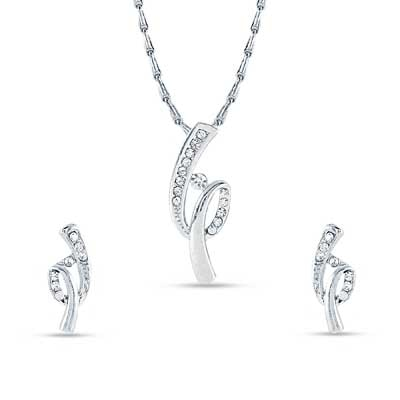 Rich Lady White Pendant Set