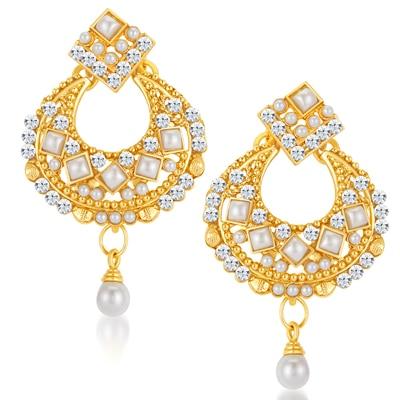 ShoStopper Cluster Gold Plated Australian Diamond Earring