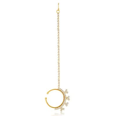 ShoStopper Exquitely Gold Plated Australian Diamond Nose Ring