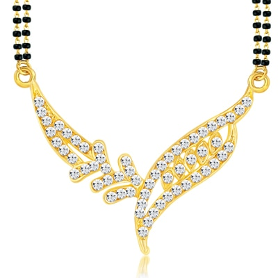 ShoStopper Gorgeous Gold Plated Australian Diamond Mangalsutra