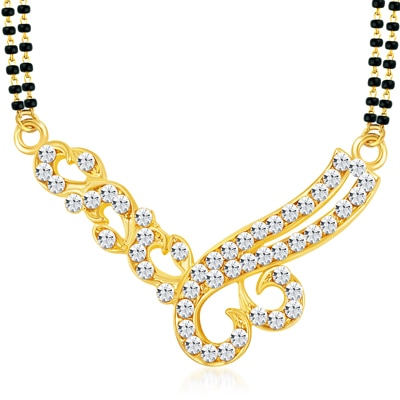 ShoStopper Sparkling Gold Plated Australian Diamond Mangalsutra available at Paytm for Rs.91