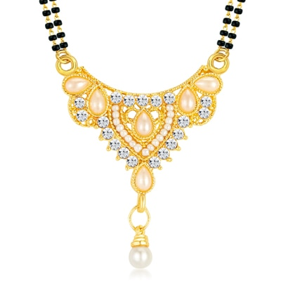 ShoStopper Traditional Gold Plated Australian Diamond Mangalsutra