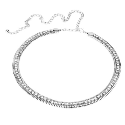 Generic Silver Chain Crystal Ladies Waist Chain Belt