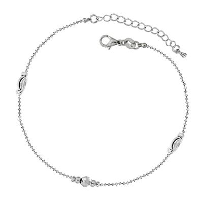 Spargz Bead Design Rhodium Alloy Metal Daily Wear Anklet For Women AIANK 004 free heart shaped key ring