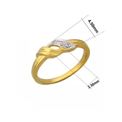 Sparkles 0.02 Cts Diamond Ring in 10KT Yellow Gold