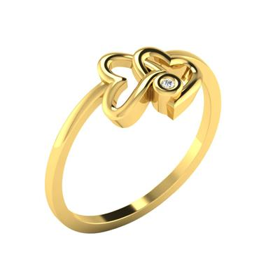 Sparkles 0.01 Cts Diamond Ring in 10KT Yellow Gold