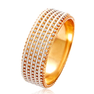 Sukkhi Delightful Gold Plated Kada For Women