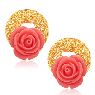 Sukkhi Golden Earrings
