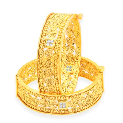 Sukkhi Stylish Jalebi Gold Plated Bangle For Women
