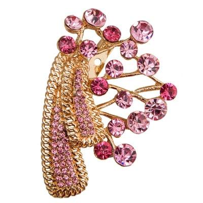 Taj Pearl Golden And Pink Broach