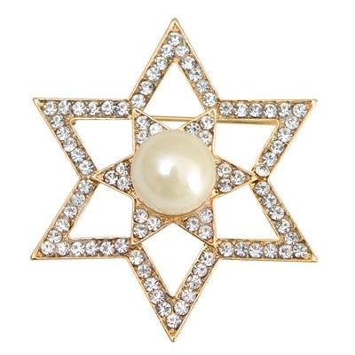 Taj Pearl Gold And Silver Broaches
