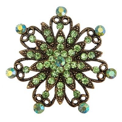 Taj Pearl Green Broach