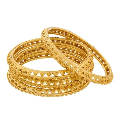 The Luxor Daily Wear Gold Plated Bangles Set BG-2045