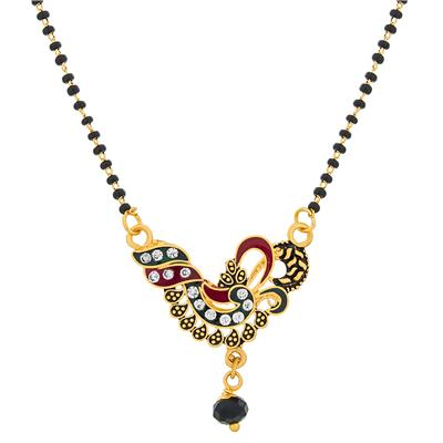 The Luxor Designer Gold Plated Designer Peacock Magalsutra MS-1366