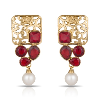 Luxor Red Earrings