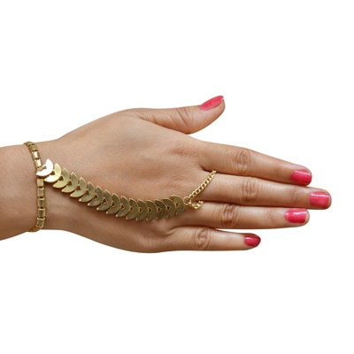 The Pari Gold Bracelet (Size-7.5)