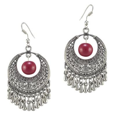 The Pari Silver Alloy Earrings