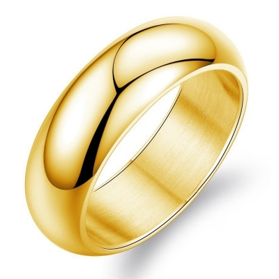 Menz Gold Plated Stainless Steel Thumb Ring