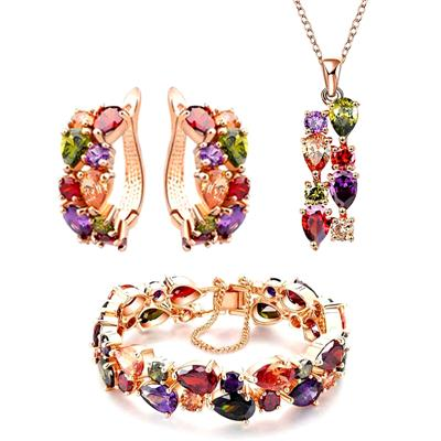 University Trendz 18 k Rose gold plated antique jewelry set for girls