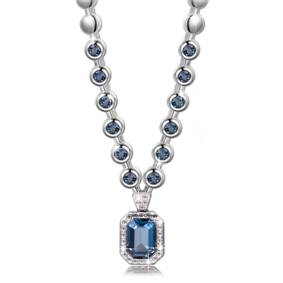 Swarovski Elements Divine Angelic Blue Hues Designer Crystal Necklace for Women by YELLOW CHIMES/ Gift for Women / Gift for Girls