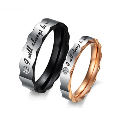 I will always be with You' Proposal Couple Rings for Girls and Boys by YELLOW CHIMES/ Valentines Gift/ Gift for Girls/ Gift for Boys