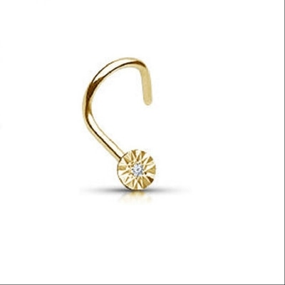 Vorra Fashion Yellow Gold Plated 925 Sterling Silver Nose Pin