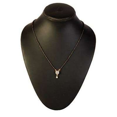YouBella American Diamond Jewellery Mangalsutra Pendant with Chain For Girls And Women