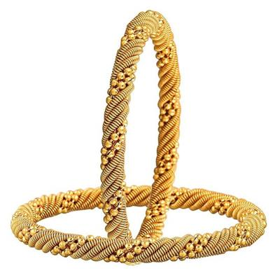 YouBella Traditional Gold Plated Bangles for Girls and Women
