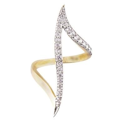 Zcarina Designer American Diamond Free Size Ring