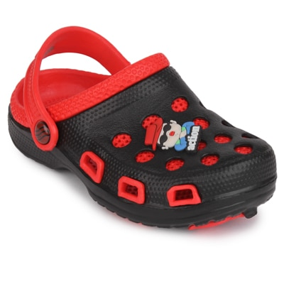 Action Kids Black And Red Clog