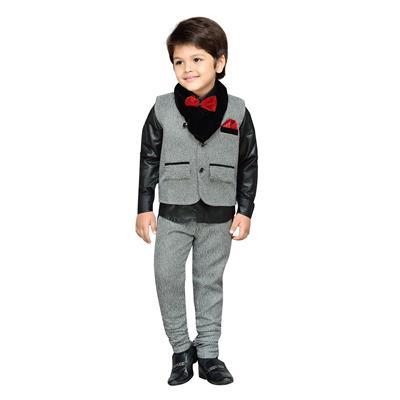 AJ Dezines Kids Shirt, Waistcoat and Pant Set