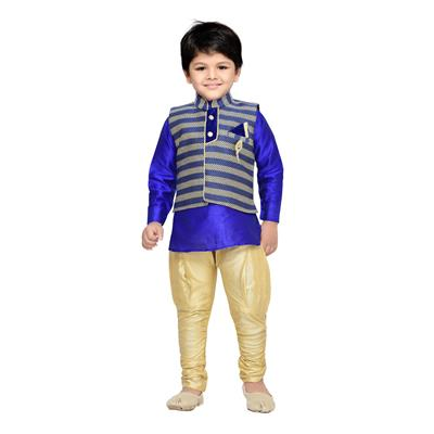 AJ Dezines Kids Kurta Waistcoat and Breeches Set