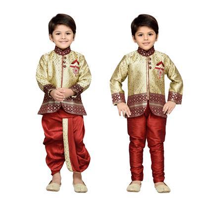 AJ DEZINES Kids Sherwani, Dhoti And Payjama Set