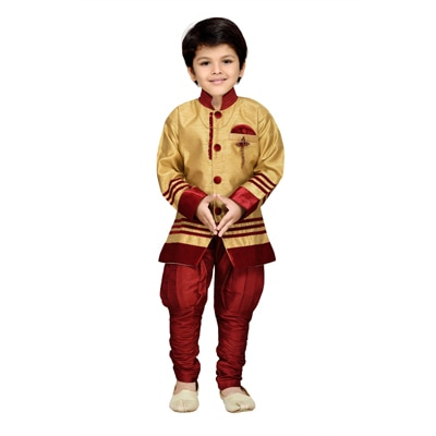 AJ Dezines Kids Sherwani and Breeches Set