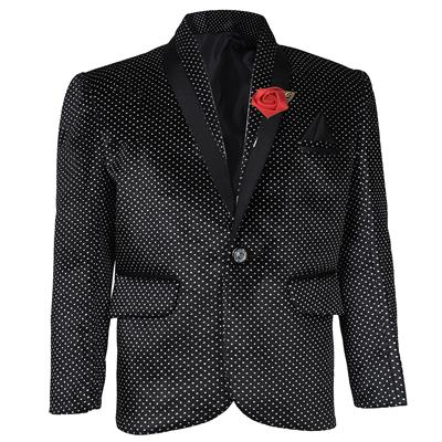AJ Dezines Kids Velvet Black Blazer for Boys