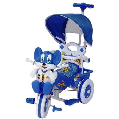 Amardeep Baby Tricycle Blue Shade And Parental Control