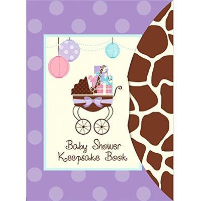 "Amscan Modern Mommy Baby Shower Party Keepsake Book, 8-1/4 x 6"", Purple"