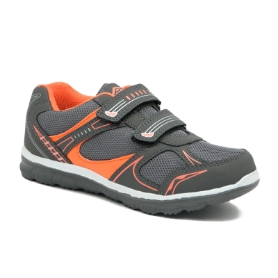 Asian Grey Mesh Sports Shoes For Kids