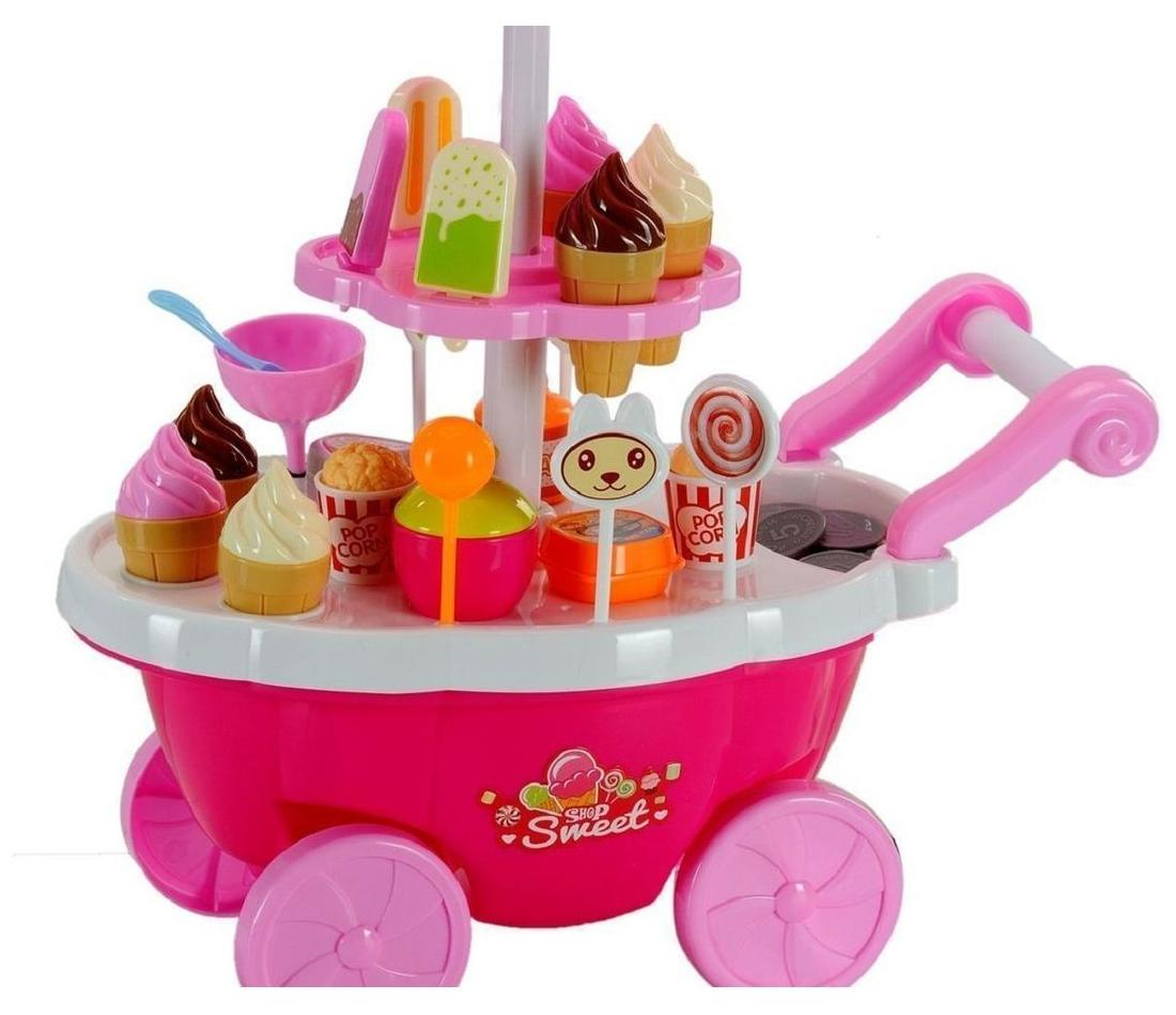 Attractive Luxurious 39 Accessories Candy Cart Sweet Shop with Light and Music
