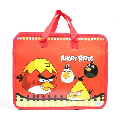 Baby Oodles Water Resistant Red Cartoon Printed Activity Bag For Boys