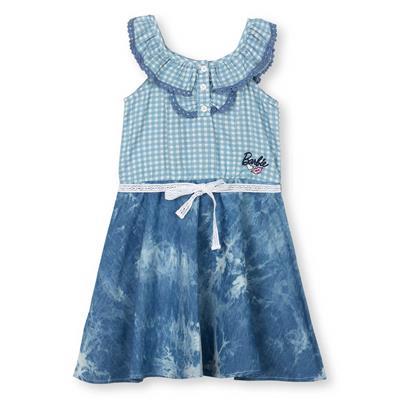 Barbie Blue Denim Cotton Blend Dress
