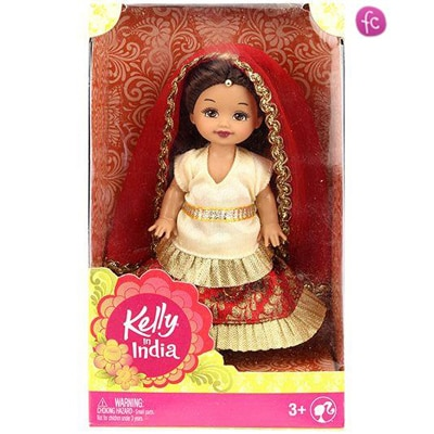 Barbie Kelly In India Doll Cream And Red - Height...